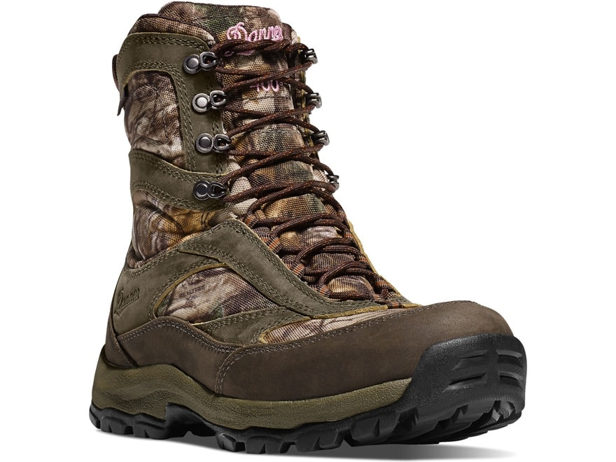 """Danner High Ground 8"""" Waterproof GORE-TEX 1000 Gram Insulated Hunting Boots Leather/Nyl..."""