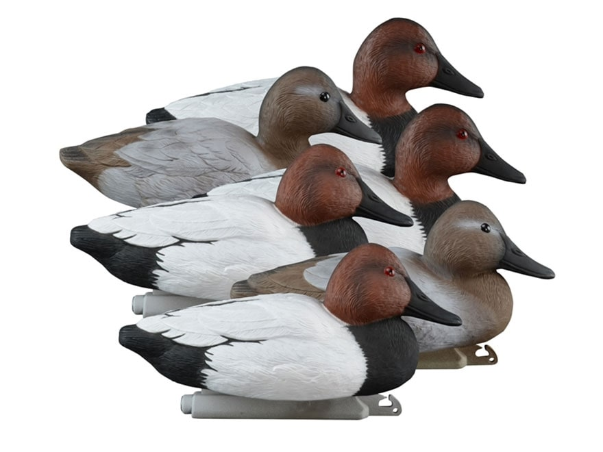Higdon Standard Foam Filled Canvasback Duck Decoy Polymer Pack of 6