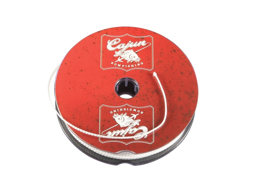 Cajun Archery Bowfishing Line 250 lb 25 yd spool White