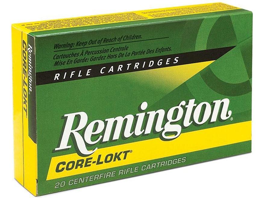 Remington Core-Lokt Ammunition 6.5 Creedmoor 140 Grain Core-Lokt Pointed Soft Point Box...