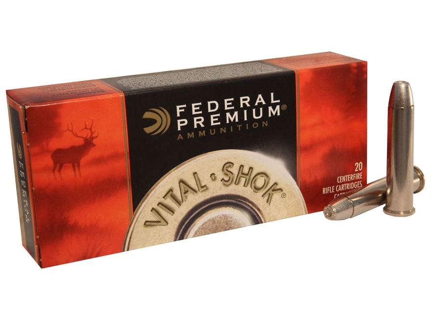 Federal Premium Vital-Shok Ammunition 45-70 Government 300 Grain Trophy Bonded Bear Cla...