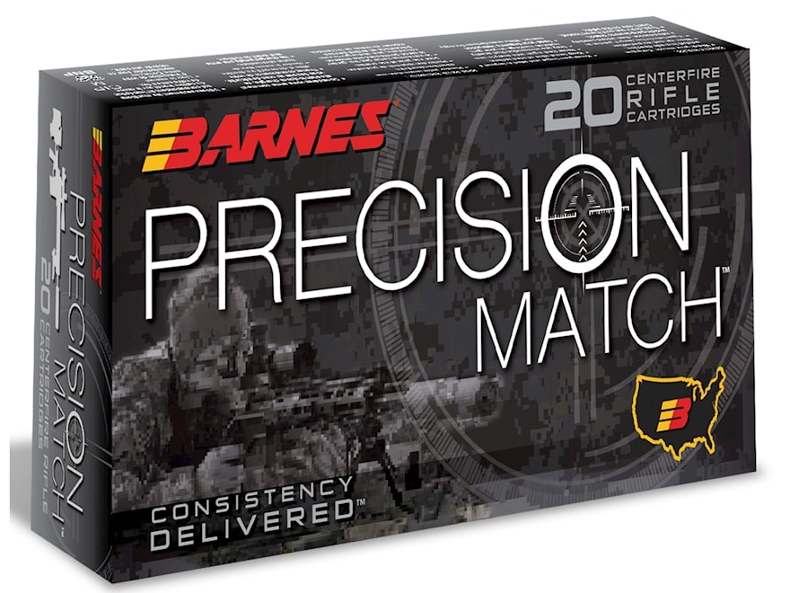 Barnes Precision Match Ammunition 6.5 Creedmoor 140 Grain Open Tip Match Box of 20