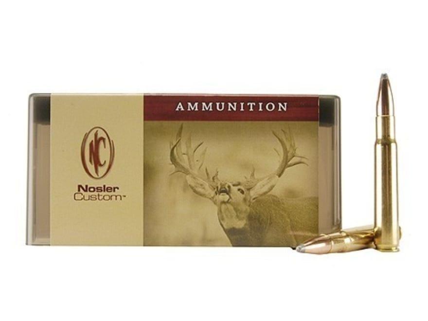 Nosler Custom Ammunition 338-06 A-Square 250 Grain Partition Spitzer Box of 20