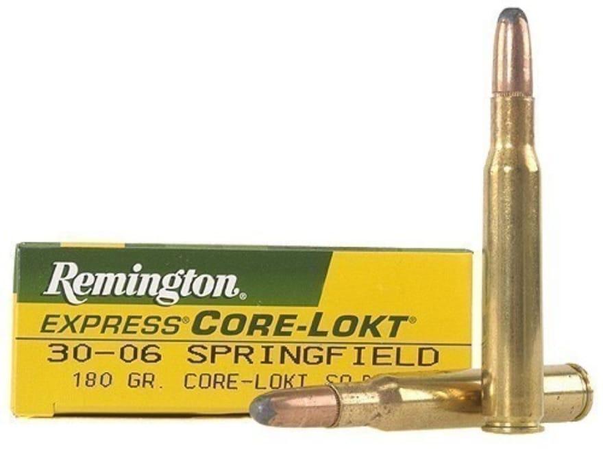 Remington Express Ammunition 30-06 Springfield 180 Grain Core-Lokt Soft Point Box of 20