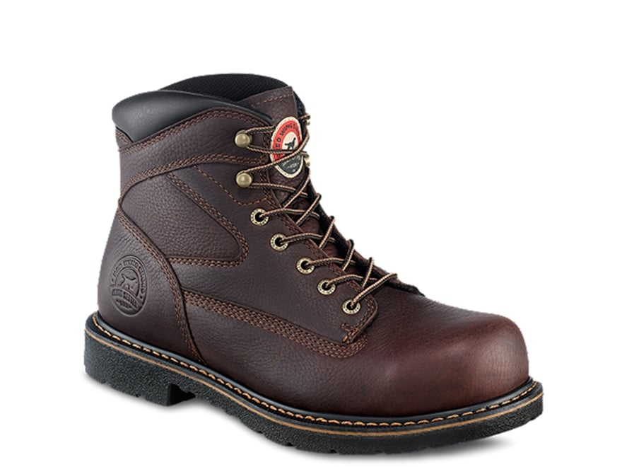 "Irish Setter Farmington 6"" Steel Toe Work Boots Leather Brown Men's"