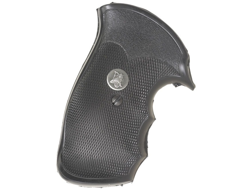 Pachmayr Gripper Decelerator Grips with Finger Grooves S&W N-Frame Square Butt Rubber B...
