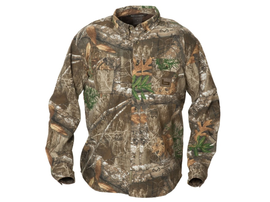 Banded Men's Button-Up Hunting Shirt Long Sleeve Cotton