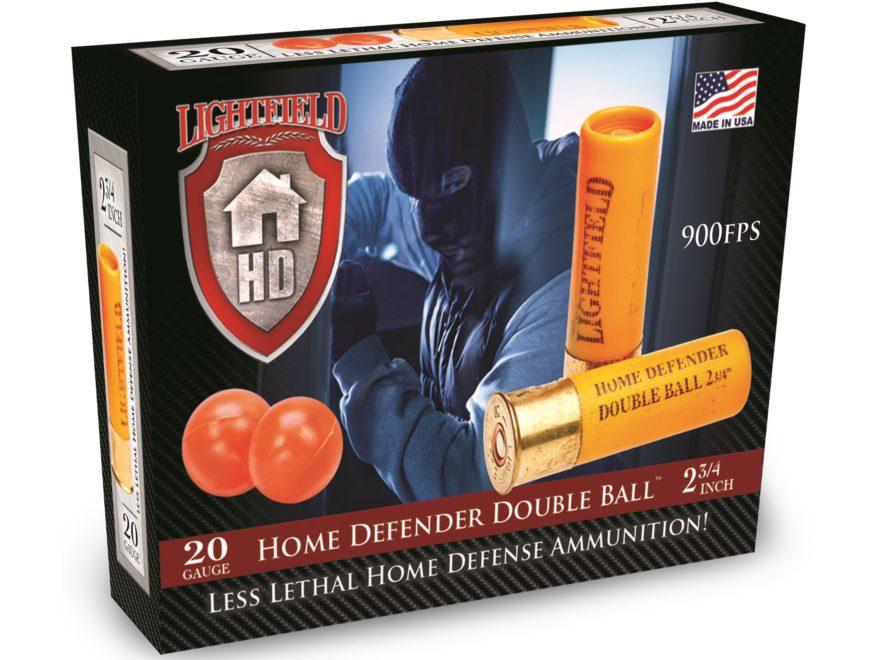 "Lightfield Home Defender Less Lethal Ammunition 20 Gauge 2-3/4"" Double Rubber Balls Box..."