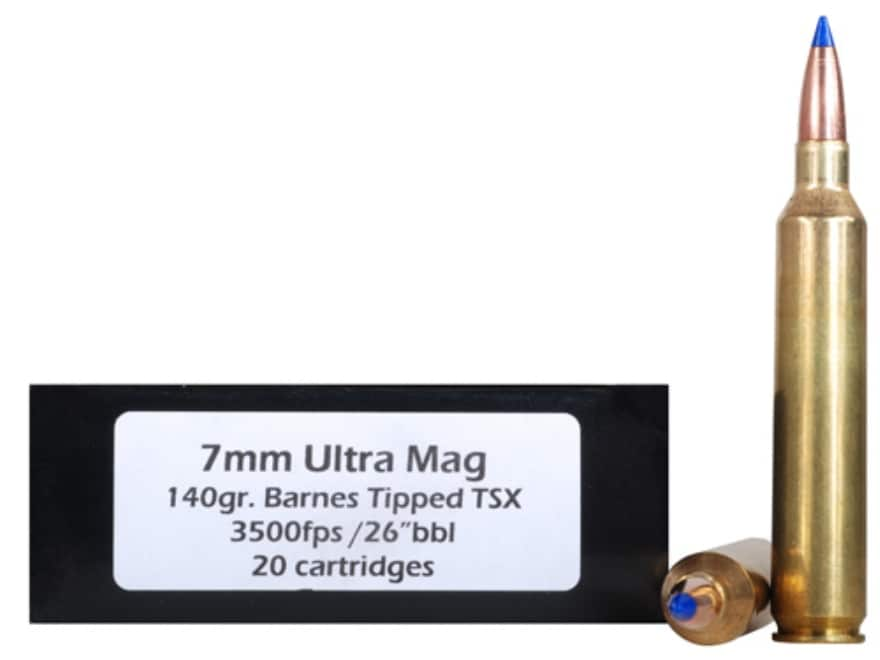 DoubleTap Ammunition 7mm Remington Ultra Magnum 140 Grain Barnes TTSX Polymer Tipped Sp...