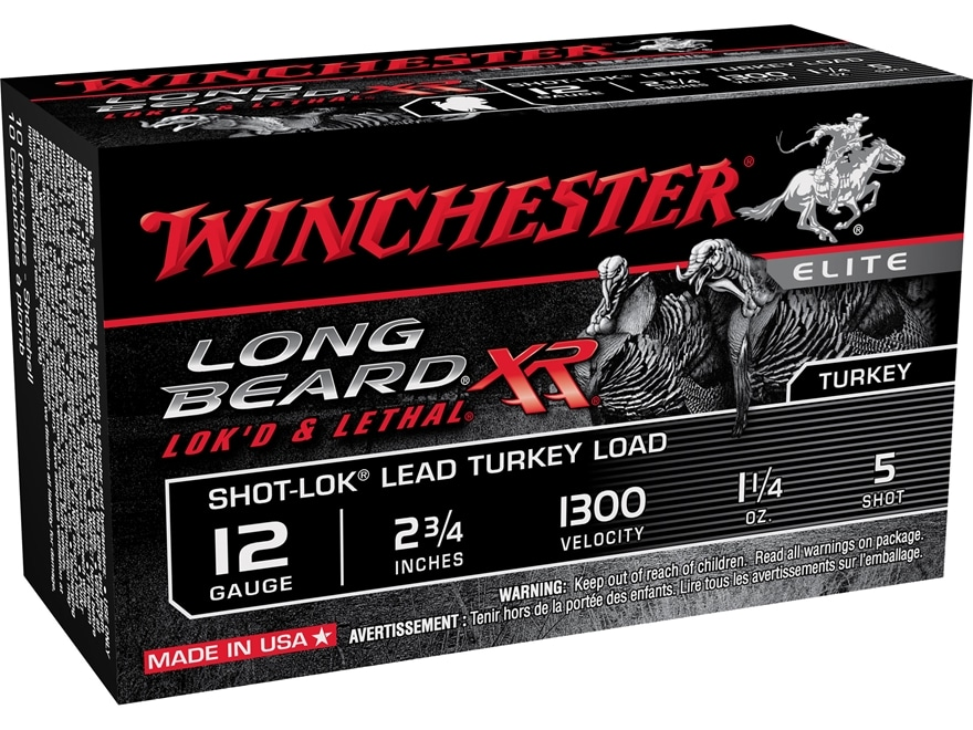 "Winchester Long Beard XR Turkey Ammunition 12 Gauge 2-3/4"" 1-1/4 oz #5 Copper Plated Shot"