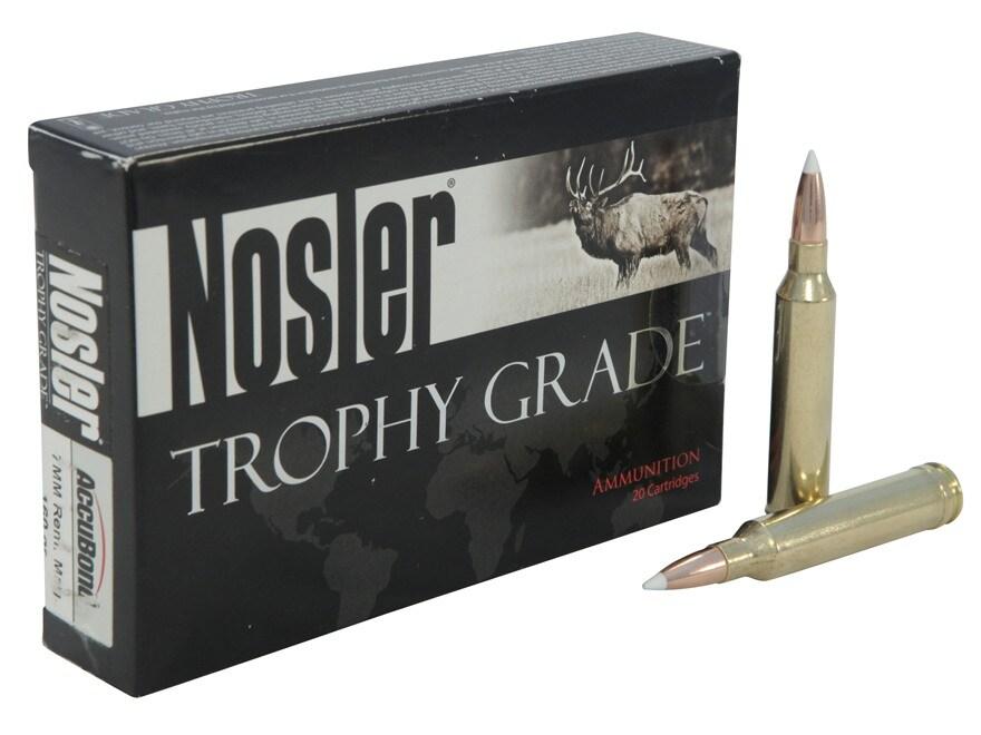 Nosler Trophy Grade Ammunition 7mm Remington Magnum 160 Grain AccuBond Box of 20