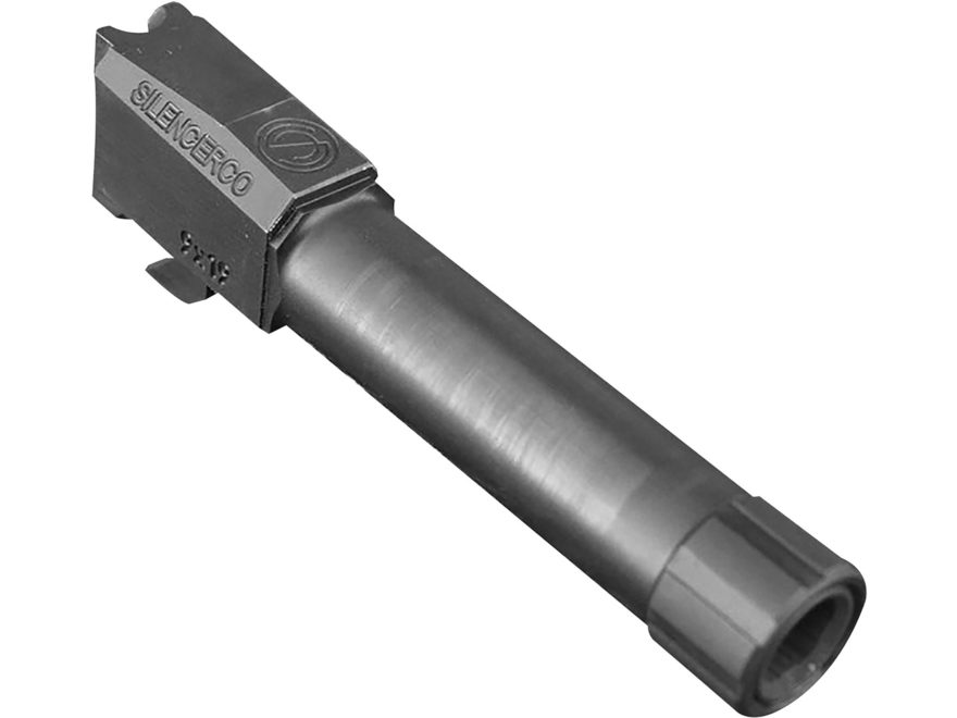 "SilencerCo Barrel Smith & Wesson M&P 9mm Luger 4.75"" Stainless Steel 1/2""- 28 Threaded ..."