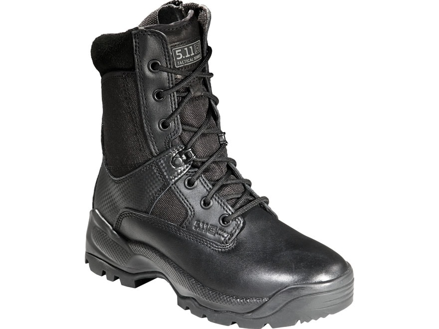"""5.11 ATAC 8"""" Tactical Boots Leather and Nylon Side Zip Black Women's"""