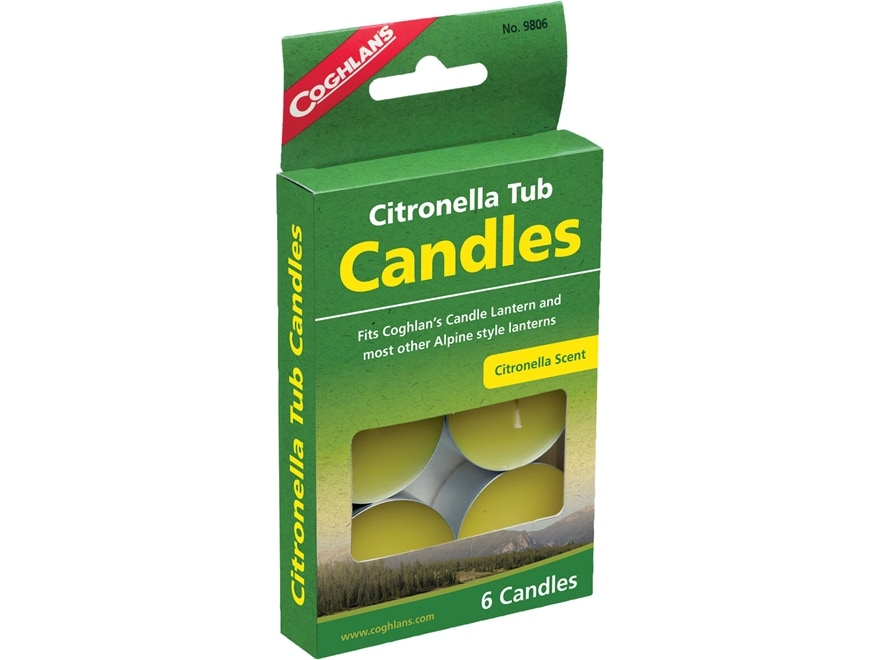 Coghlan's Citronella Tub Candle Pack of 6