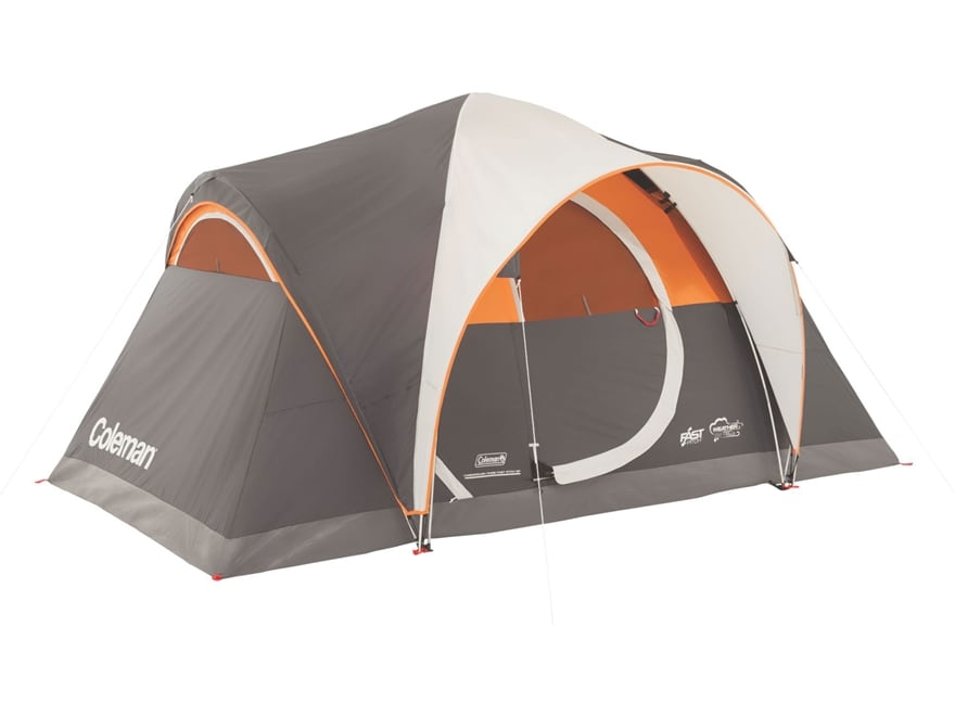 "Coleman Yarborough Pass Fast Pitch 6 Person Dome Tent 144"" x 84"" x 68"" Polyester Gray a..."