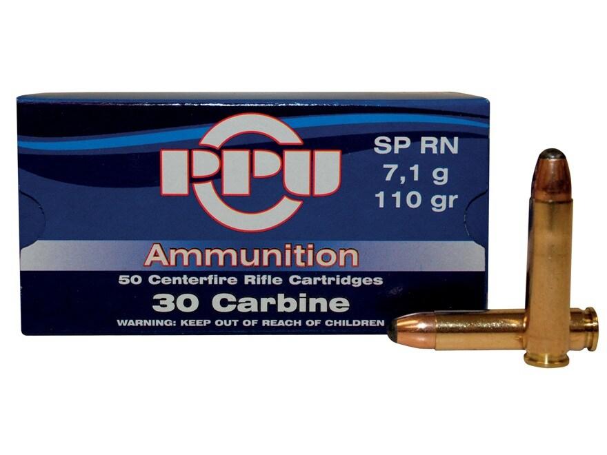 Prvi Partizan Ammunition 30 Carbine 110 Grain Soft Point Box of 50