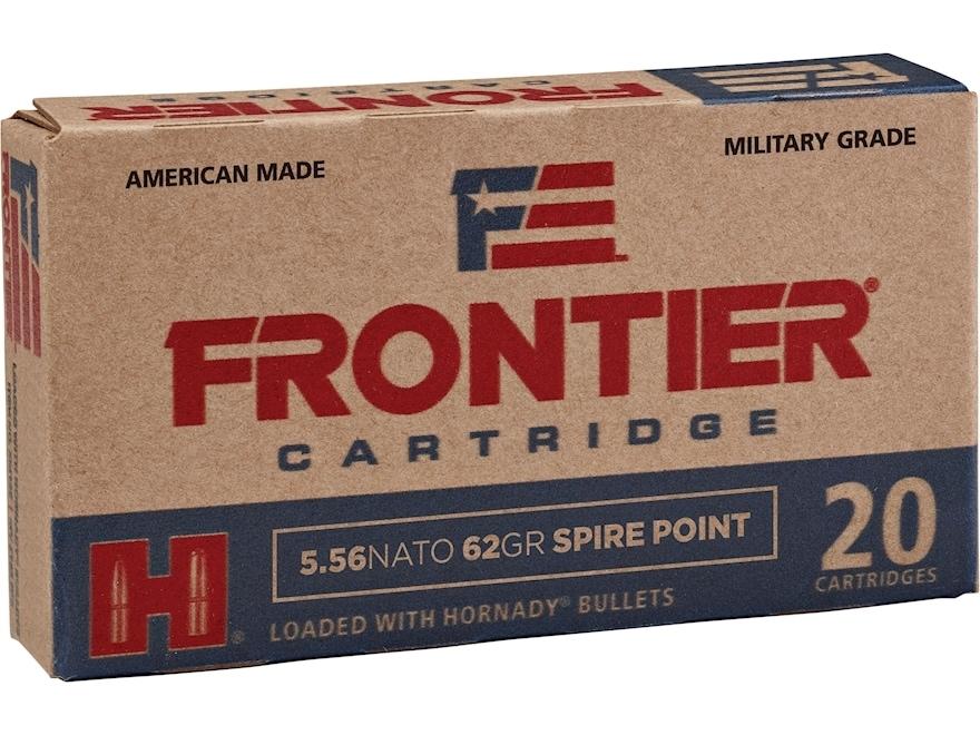 Frontier Cartridge Military Grade Ammunition 5.56x45mm NATO 62 Grain Hornady Spire Point