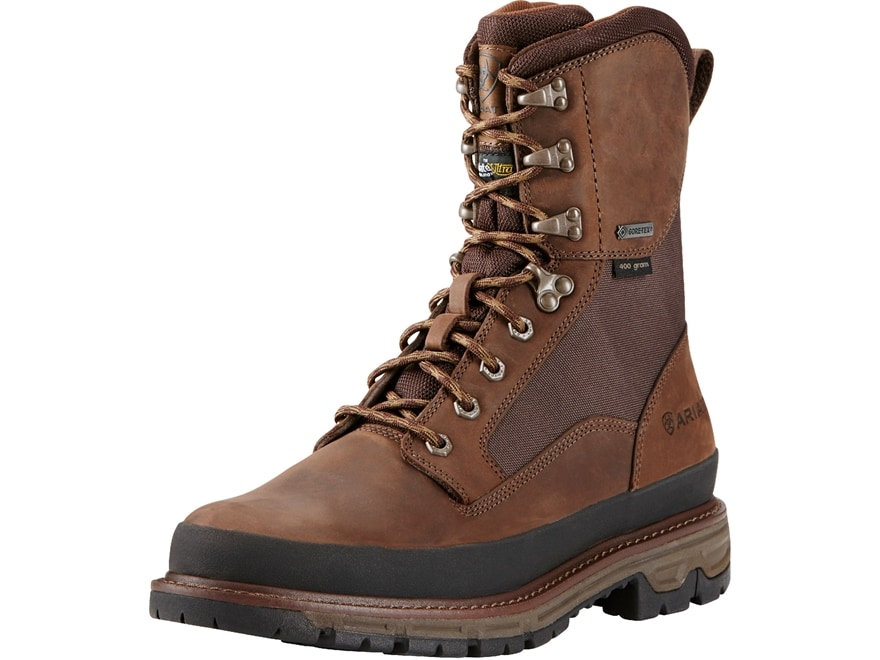 """Ariat Conquest GTX 8"""" Waterproof GORE-TEX 400 Gram Insulated Hunting Boots Leather Men's"""