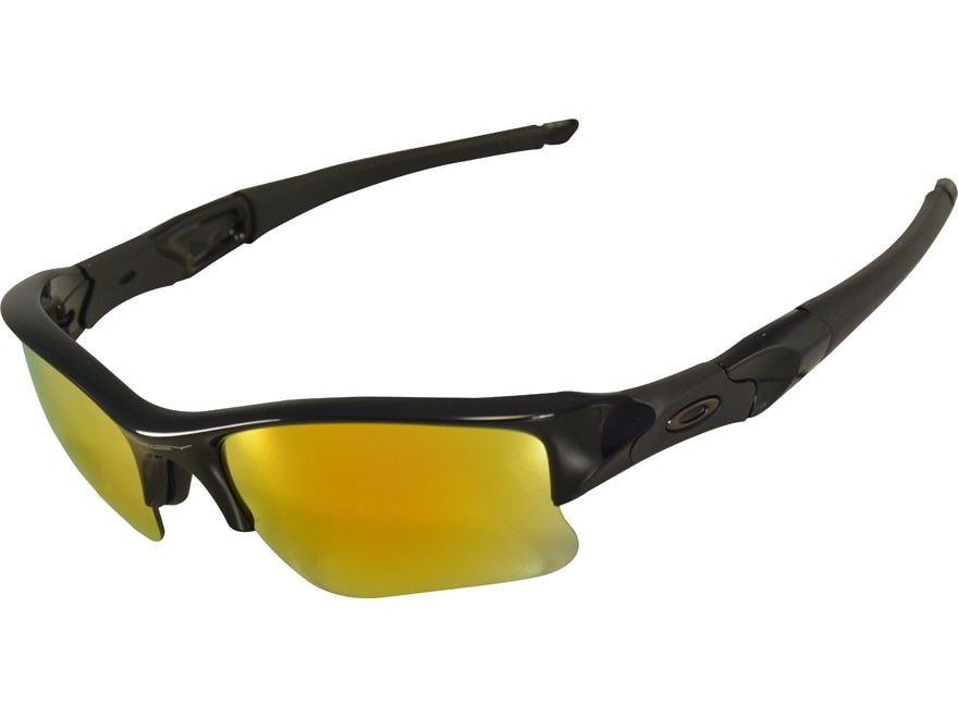 Oakley Flak Jacket XLJ Sunglasses Polished Black Frame/Fire Iridium Lens