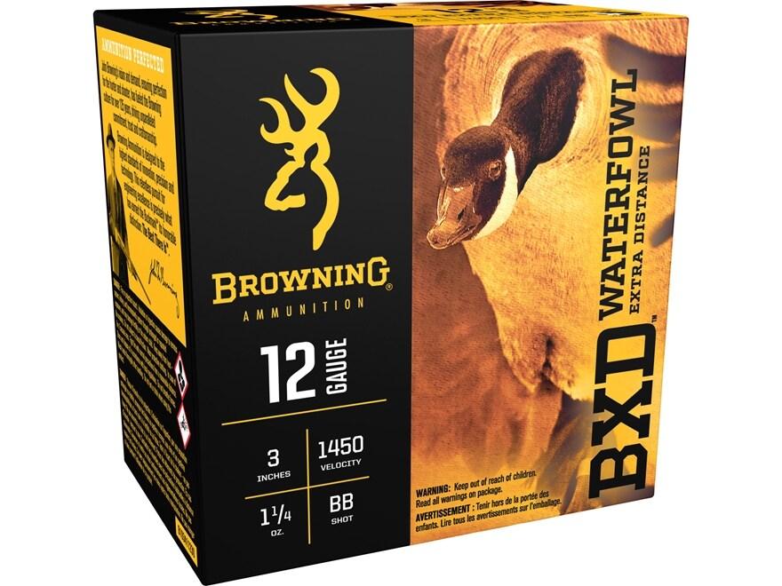 "Browning BXD Waterfowl Ammunition 12 Gauge 3"" 1-1/4 oz BB Non-Toxic Steel Shot"