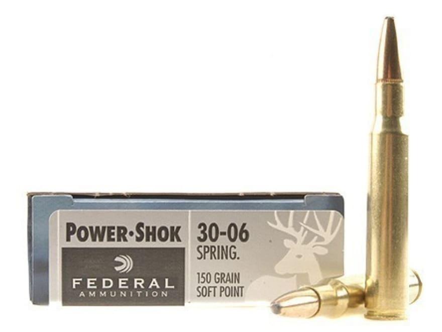 Federal Power-Shok Ammunition 30-06 Springfield 150 Grain Soft Point Box of 20