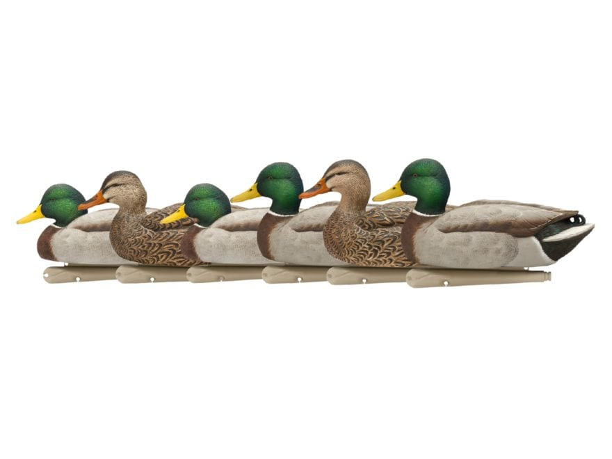 Avian-X Open Water Mallards Weighted Keel Duck Decoy Pack of 6