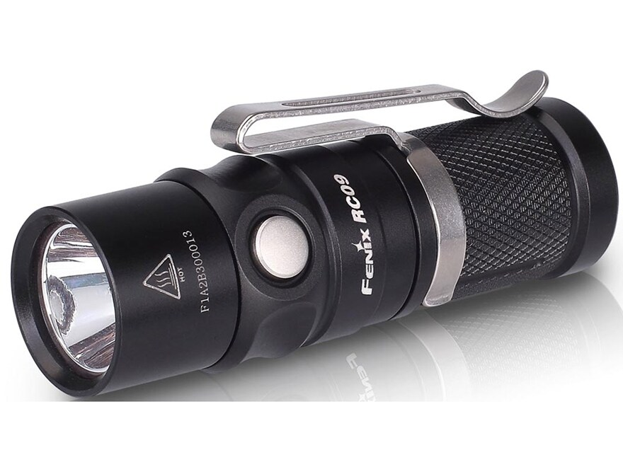 Fenix RC09 Flashlight LED with 16340 Li-ion Rechargeable Battery Aluminum Black