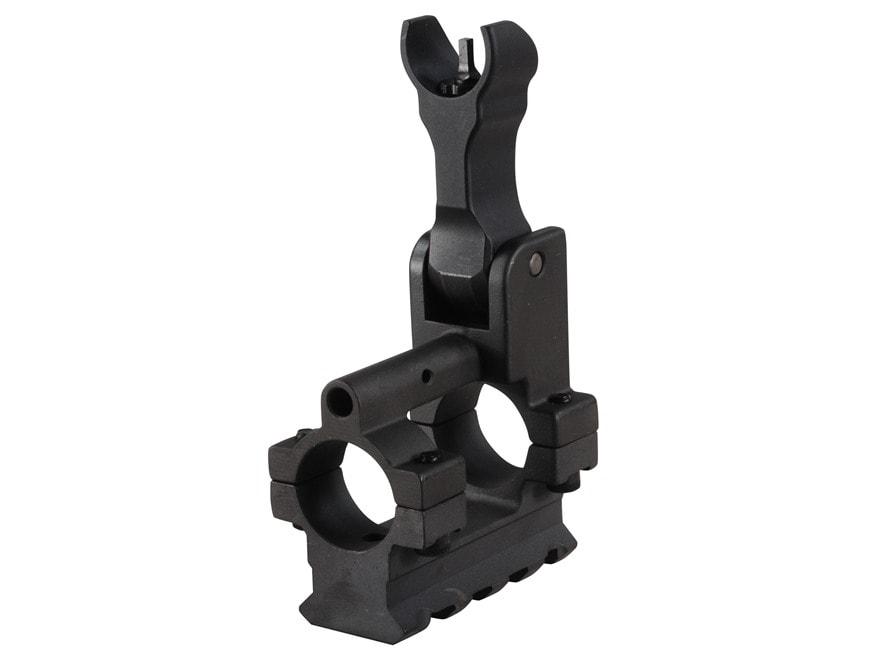 Yankee Hill Machine Gas Block with Flip-Up Hooded Front Sight & Bottom Rail Bolt-On Mou...