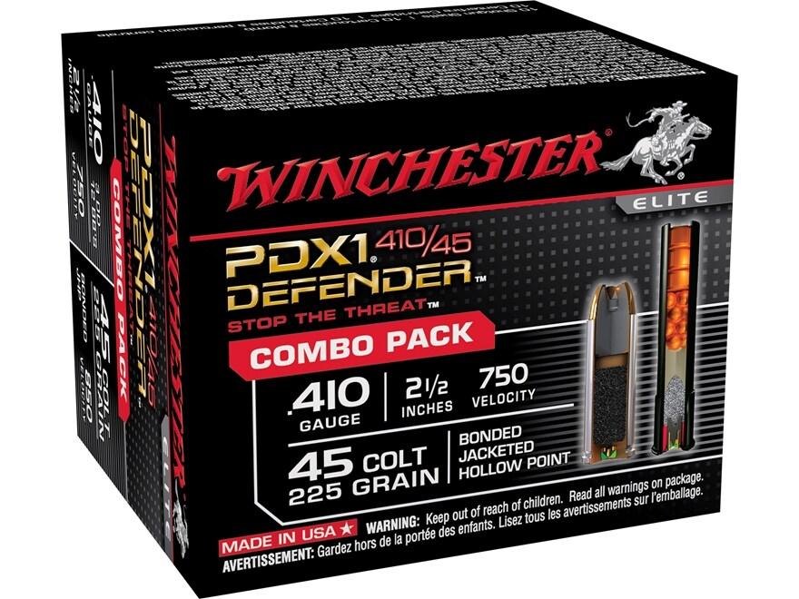 Winchester PDX1 Defender Ammunition Combo Pack 45 Colt (Long Colt) 225 Grain Jacketed H...