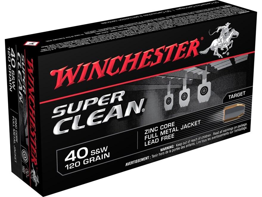 Winchester Super Clean NT Ammunition 40 S&W 120 Grain Full Metal Jacket Lead-Free