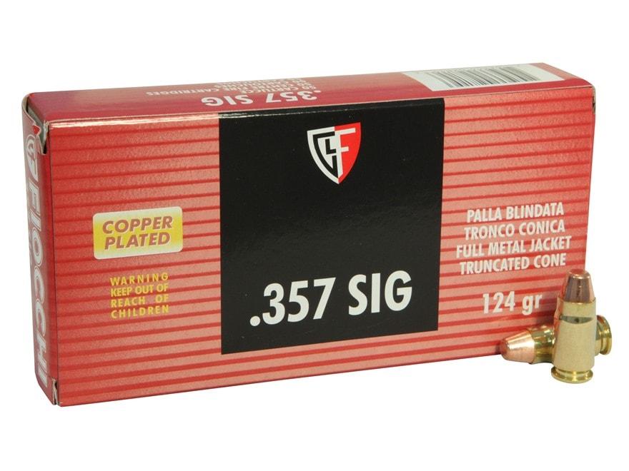Fiocchi Shooting Dynamics Ammunition 357 Sig 124 Grain Full Metal Jacket Truncated Cone...