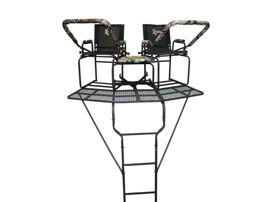 X-Stand The Comrade 2-Man Ladder Treestand Steel Black