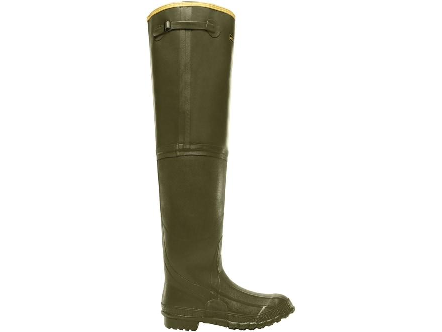 "LaCrosse ZXT Irrigation 26"" Waterproof Hip Boots Rubber OD Green Men's"