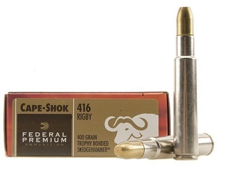 Federal Premium Cape-Shok Ammunition 416 Rigby 400 Grain Trophy Bonded Sledgehammer Box...