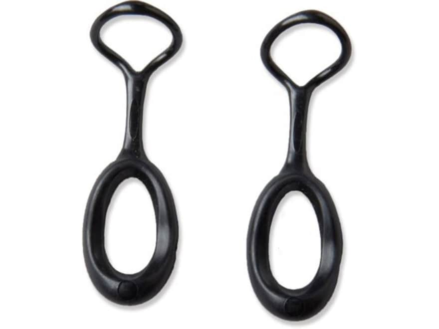 Gear Aid Ergo Replacement Zipper Pull Polymer Black Pack of 2