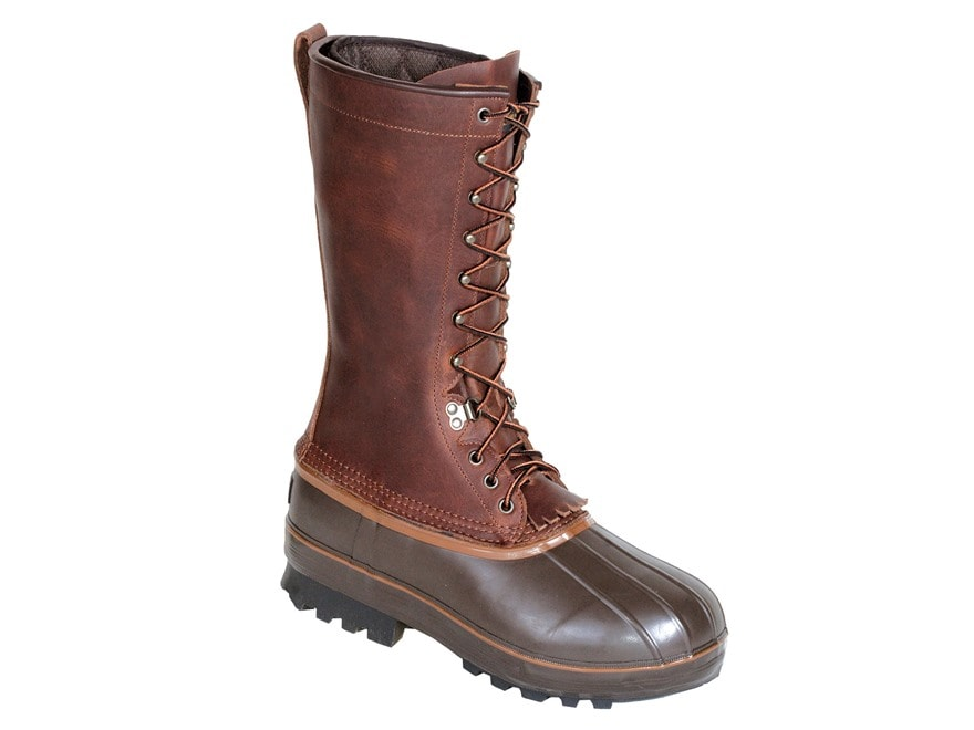 """Kenetrek Northern 13"""" 1000 Gram Insulated Waterproof Pac Boots Leather and Rubber Brown..."""