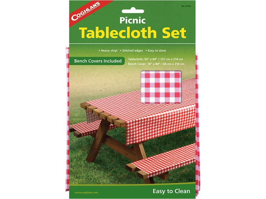 Coghlan's Picnic Tablecloth Set Polyethylene Red and White