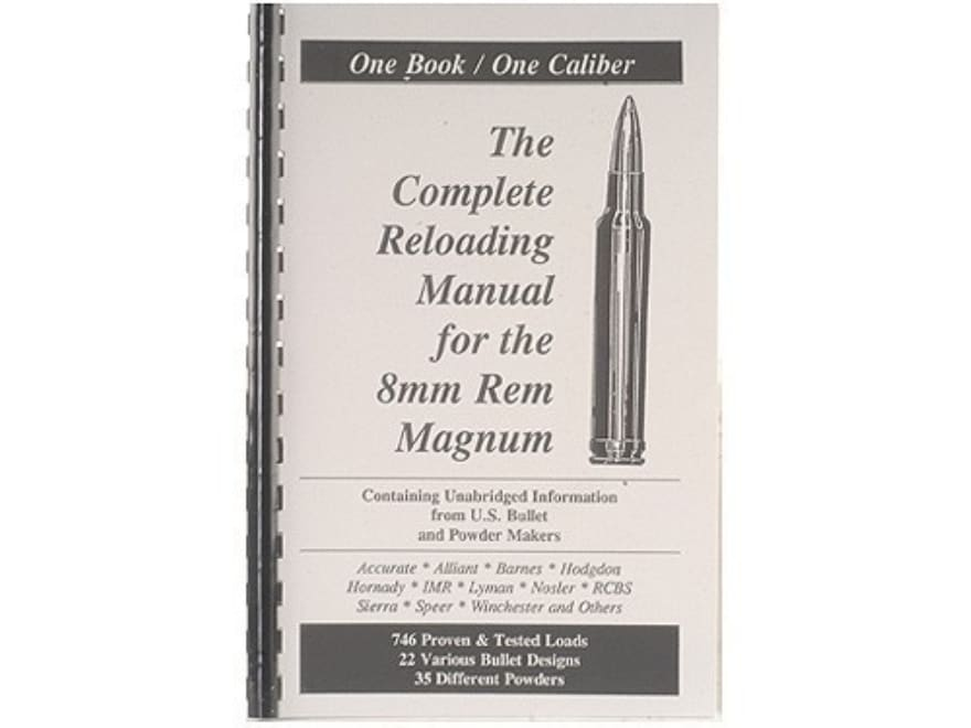 "Loadbooks USA ""8mm Remington Magnum"" Reloading Manual"