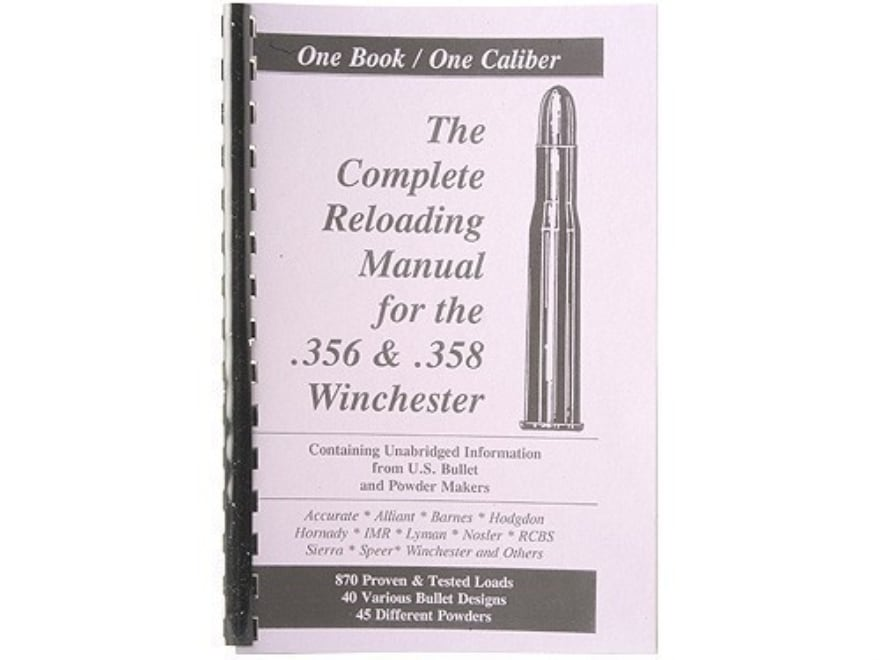 "Loadbooks USA ""356 and 358 Winchester"" Reloading Manual"
