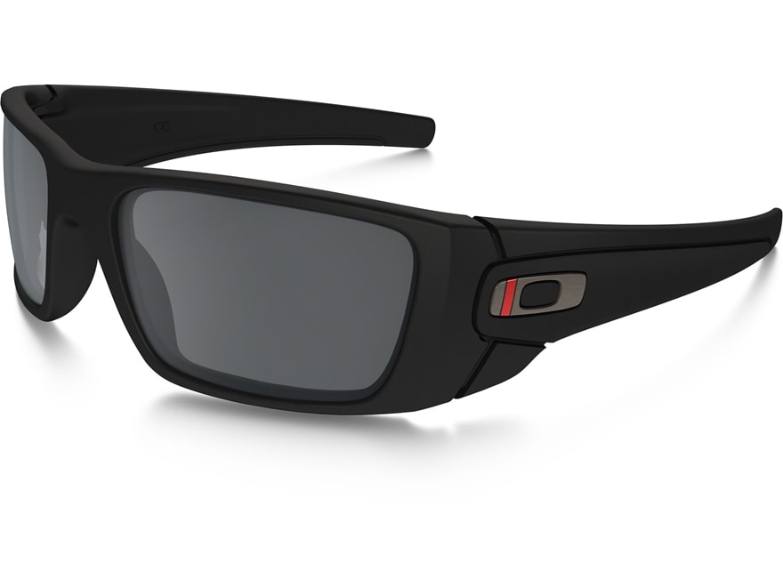 Oakley SI Fuel Cell Thin Red Line Sunglasses Black Frame/Gray Lens