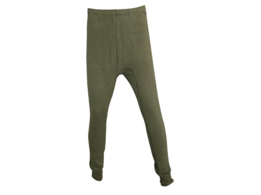 Military Surplus German Fleece Long John Pants Grade 1 Olive Drab Large