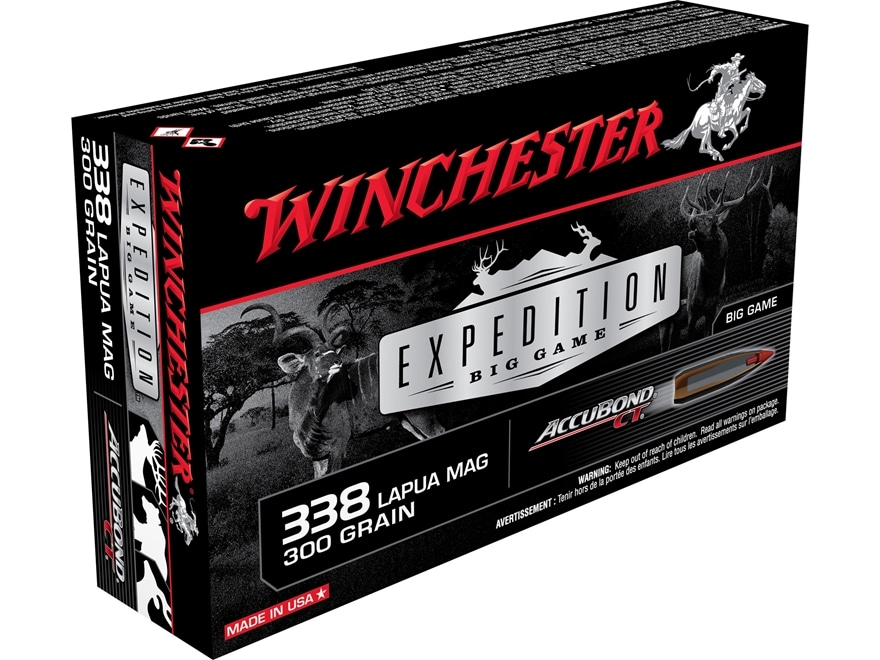Winchester Expedition Big Game Ammunition 338 Lapua Magnum 300 Grain AccuBond