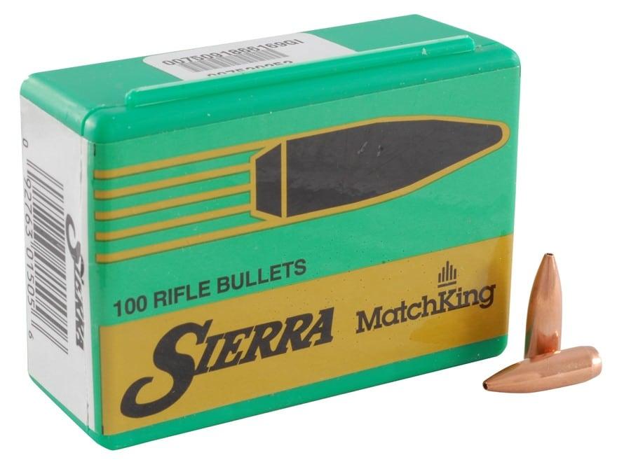 Sierra MatchKing Bullets 243 Caliber, 6mm (243 Diameter) 70 Grain Hollow Point Boat Tail