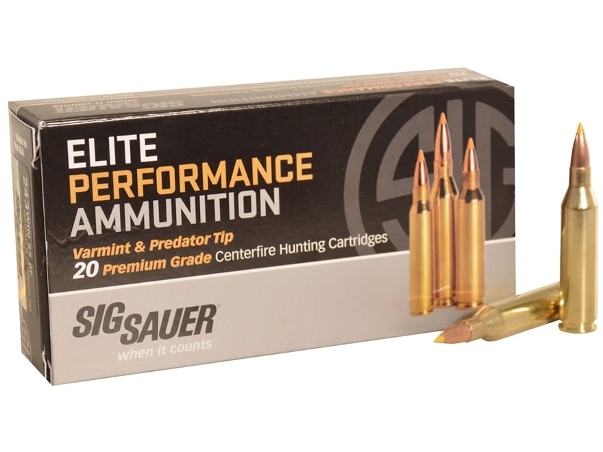 Sig Sauer Elite Performance Varmint and Predator Ammunition 243 Winchester 55 Grain Tip...