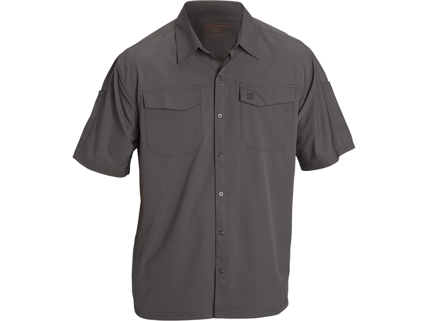 5.11 Men's Freedom Flex Button-Up Shirt Short Sleeve Polyester