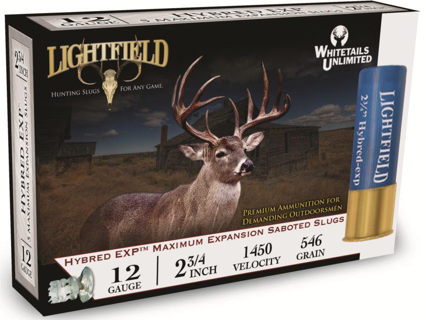 """Lightfield Hybred EXP Ammunition 12 Gauge 2-3/4"""" 1-1/4 oz Sabot Slug Box of 5"""