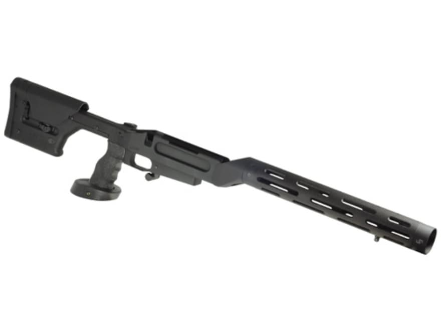JP Enterprises Chassis System (AMCS) With Handguard Remington 700 Short Action Black
