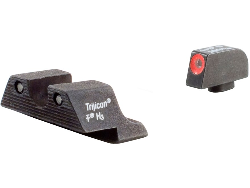 Trijicon HD Night Sight Set Glock 20, 21, 21SF, 29, 30, 36, 41 Steel Matte 3-Dot Tritiu...