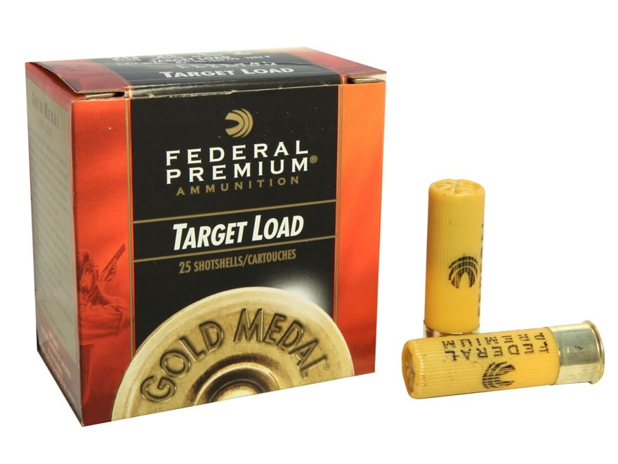 "Federal Premium Gold Medal Ammunition 20 Gauge 2-3/4"" 7/8 oz #9 Shot Box of 25"