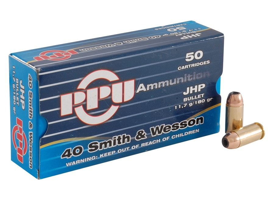 Prvi Partizan Ammunition 40 S&W 180 Grain Jacketed Hollow Point Box of 50